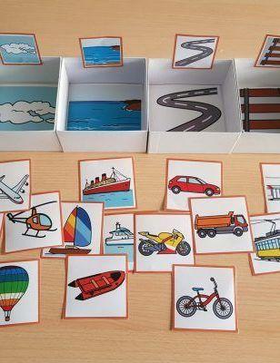 Materiales_TEACCH_Caja_de_clasificacion_Transporte... - #activities #MaterialesTEACCHCajadeclasificacionTransporte #montessoriselbstgemacht