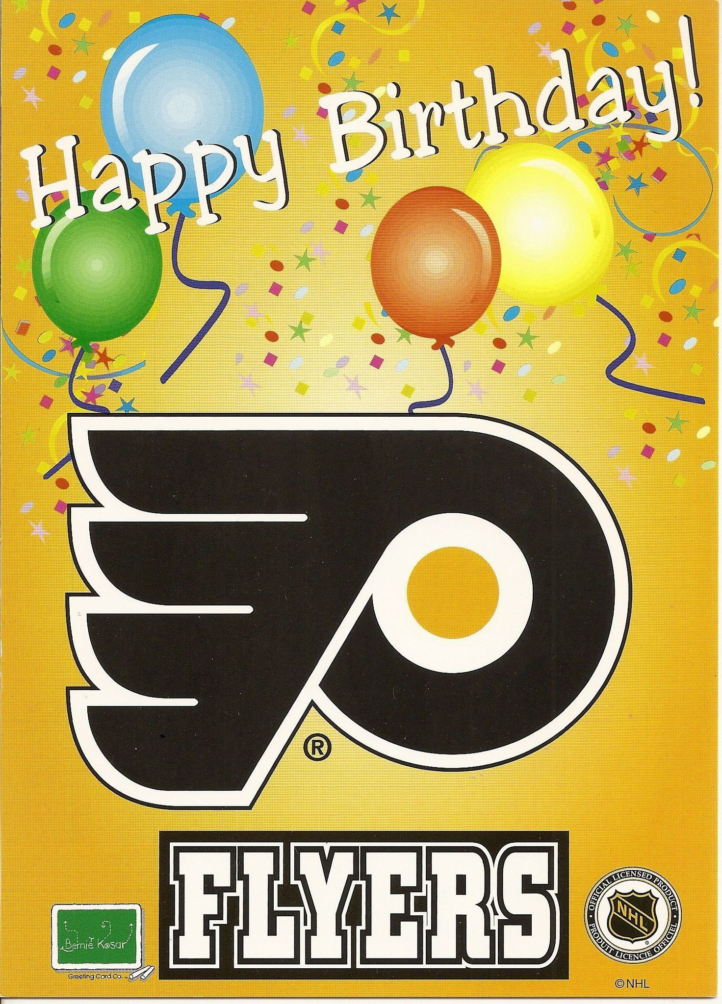 Philadelphia Flyers Happy Birthday Greeting Card Birthdays