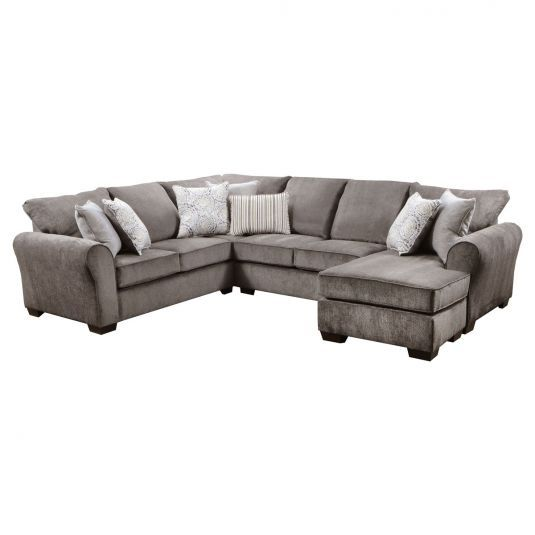 Taylor 2 Piece Sectional With Chaise In Ash Jerome S Furniture