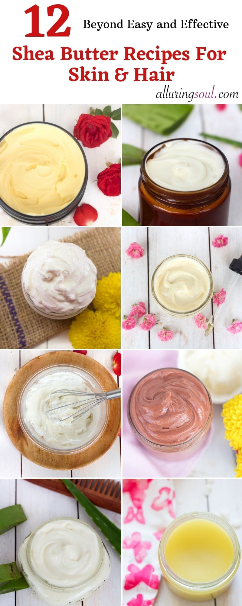 12 Shea Butter Recipes For Skin & Hair (Beyond Easy #healthyskin