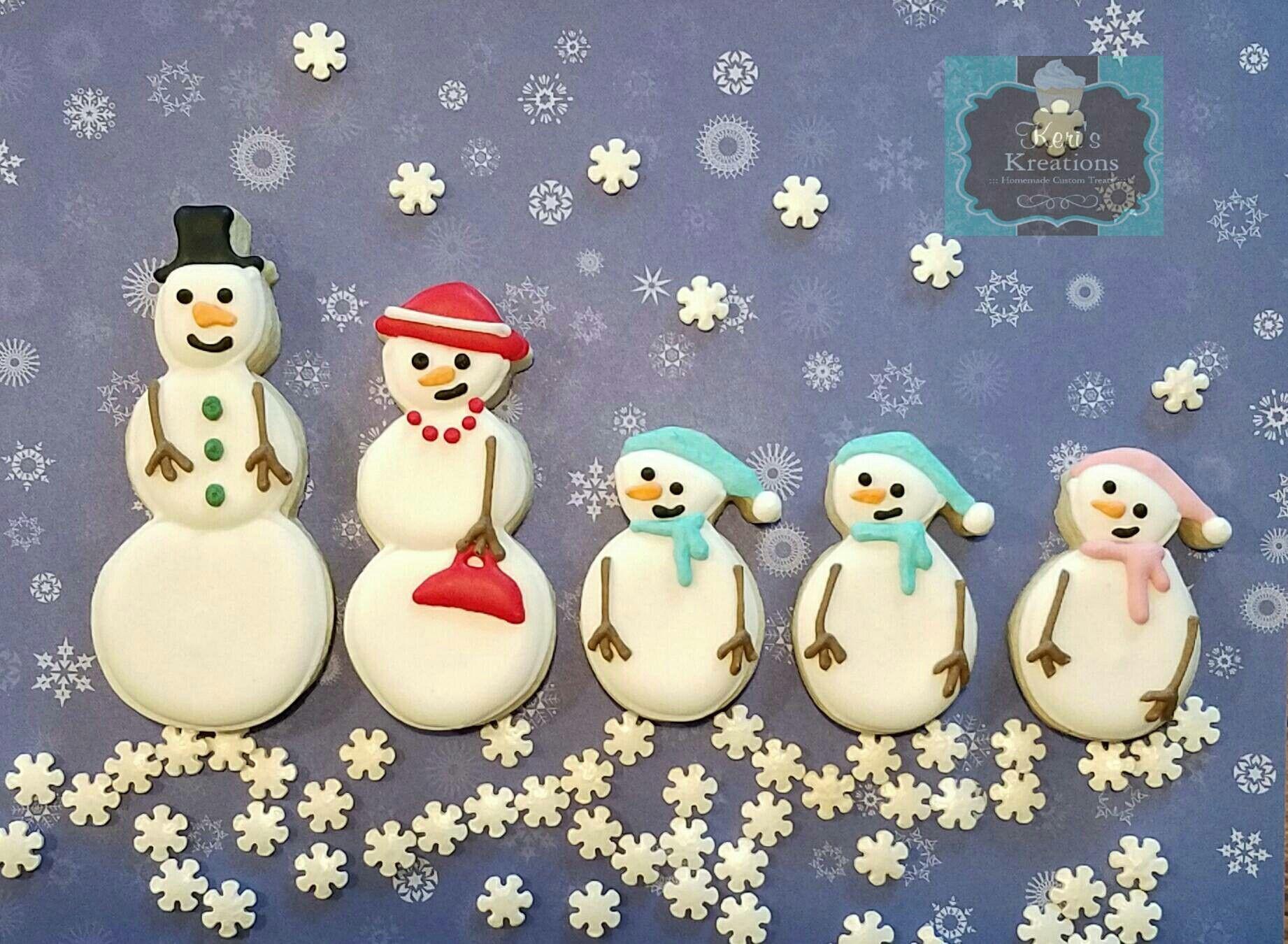 Snowman sugar cookie family Keri's Kreations