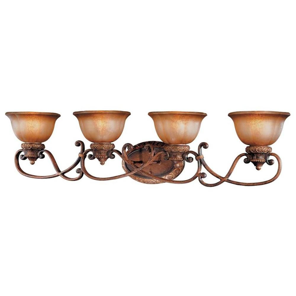Photo of Minka Lavery Illuminati 4-Light Bronze Bath Light 6354-177 – The Home Depot