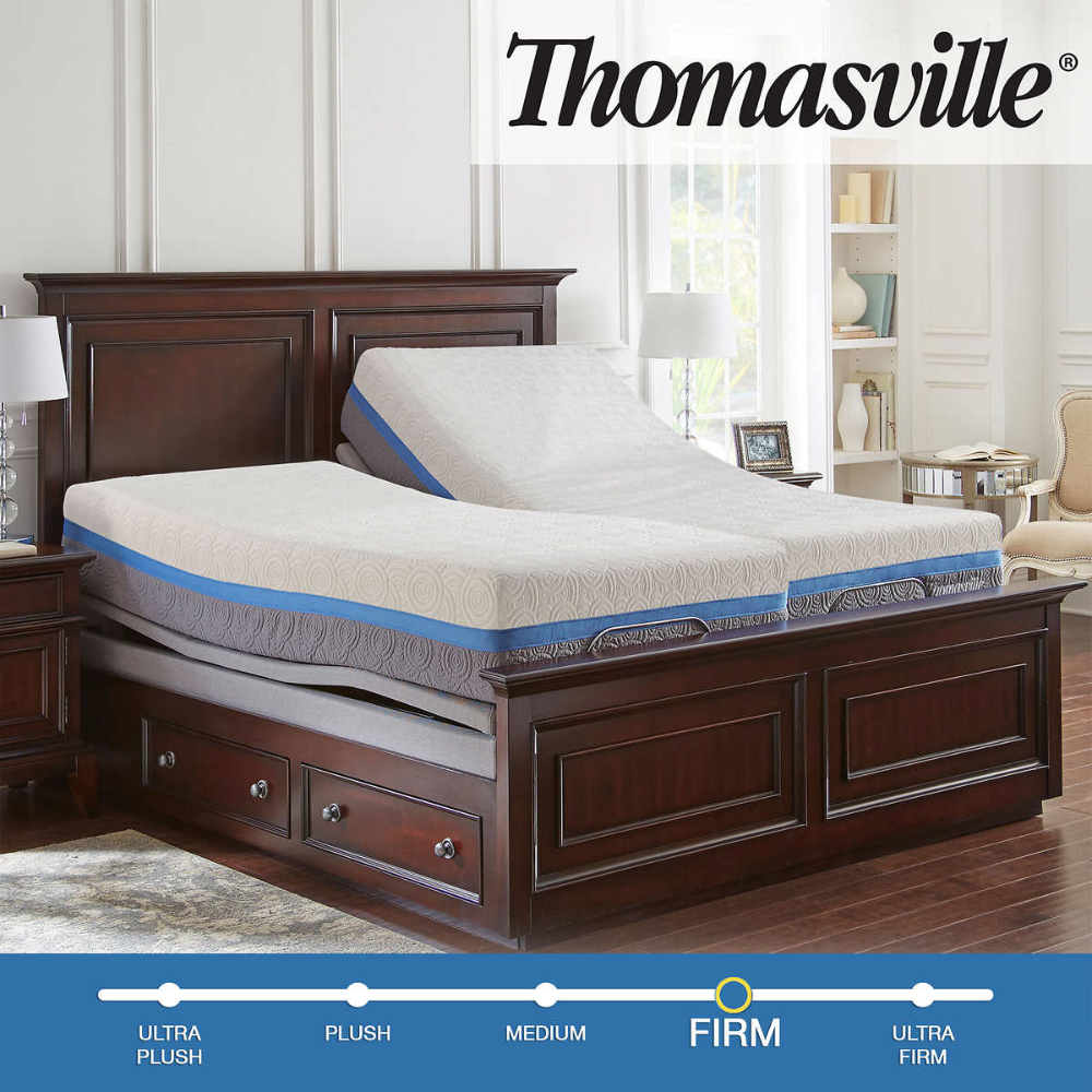 "Thomasville Gel Choice 12.5"" Memory Foam Split King"