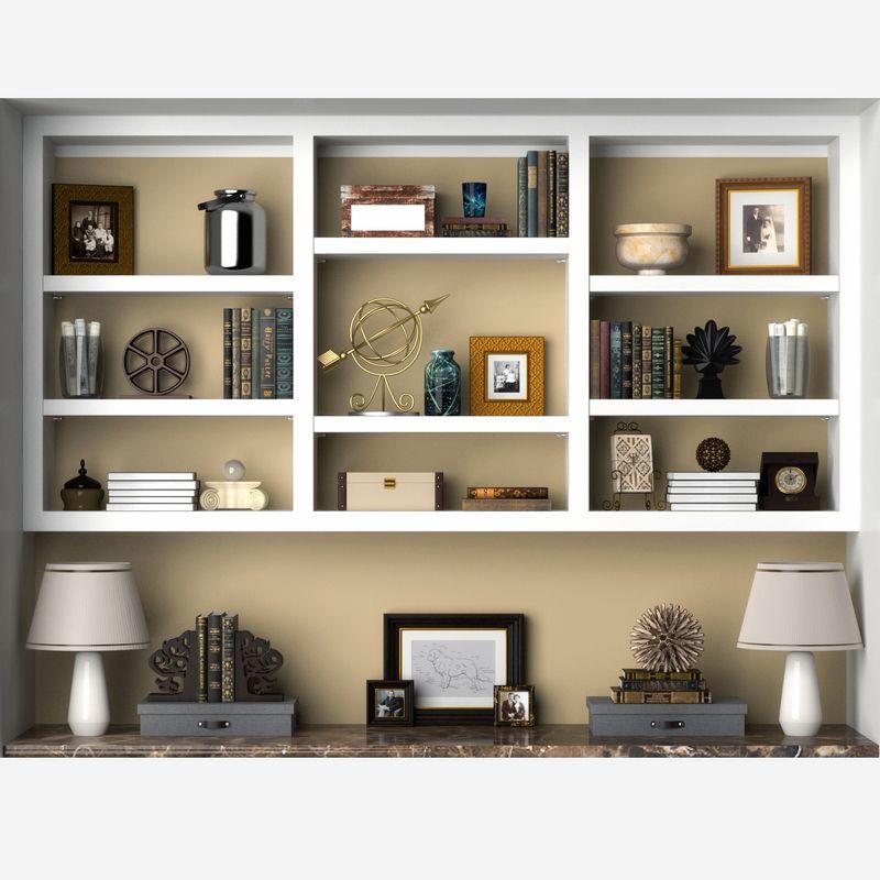 Shelf Decor 3d Model Shelf Decor Executive Office Decor Shelves