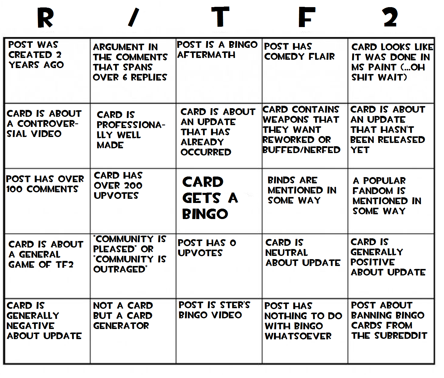 I love Bingo so here\'s some Bingo! #games #teamfortress2 #steam #tf2 ...