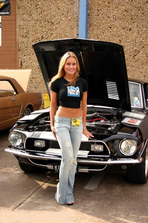 Car Show Model With Mustang  Car Girls  Mustang Cars -6796