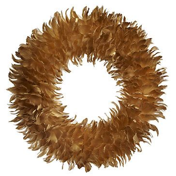 Feather Wreath Amp Tree Gold Holiday Decor Accessories