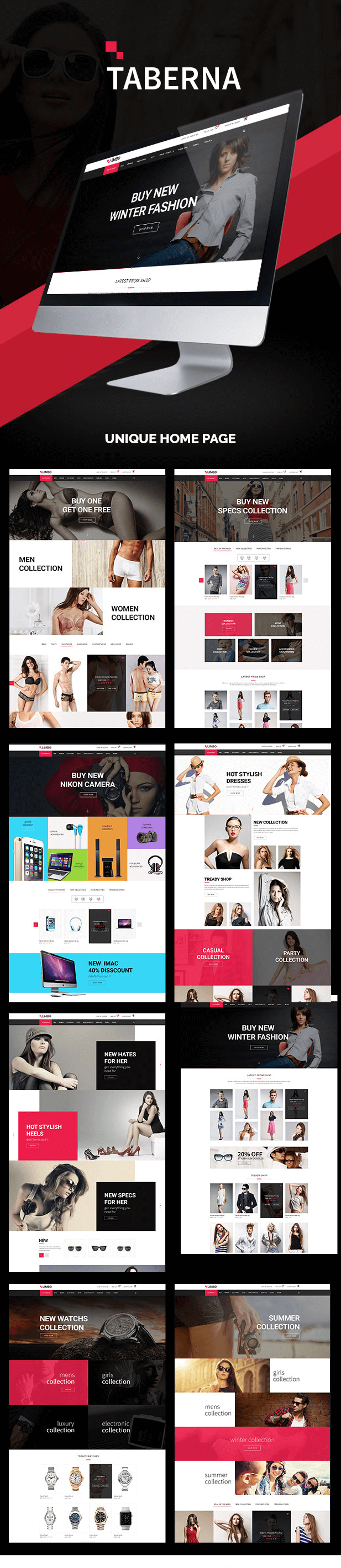 Get Taberna Multipurpose Woocommerce Wordpress Theme Woocommerce