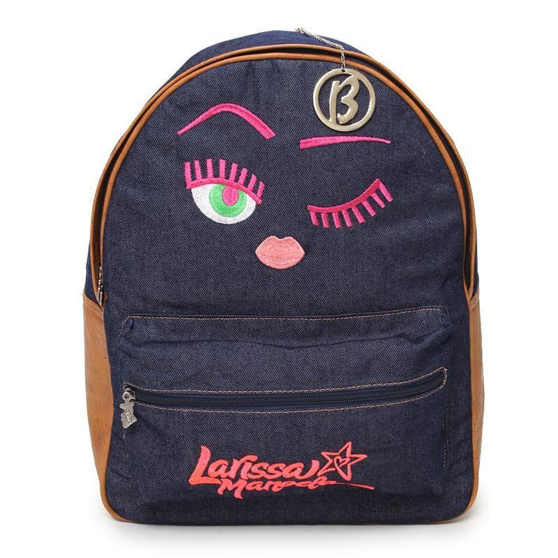 Mochila Jeans Larissa Manoela   Coisas para comprar   School, Biro e ... 5895b7eaa5