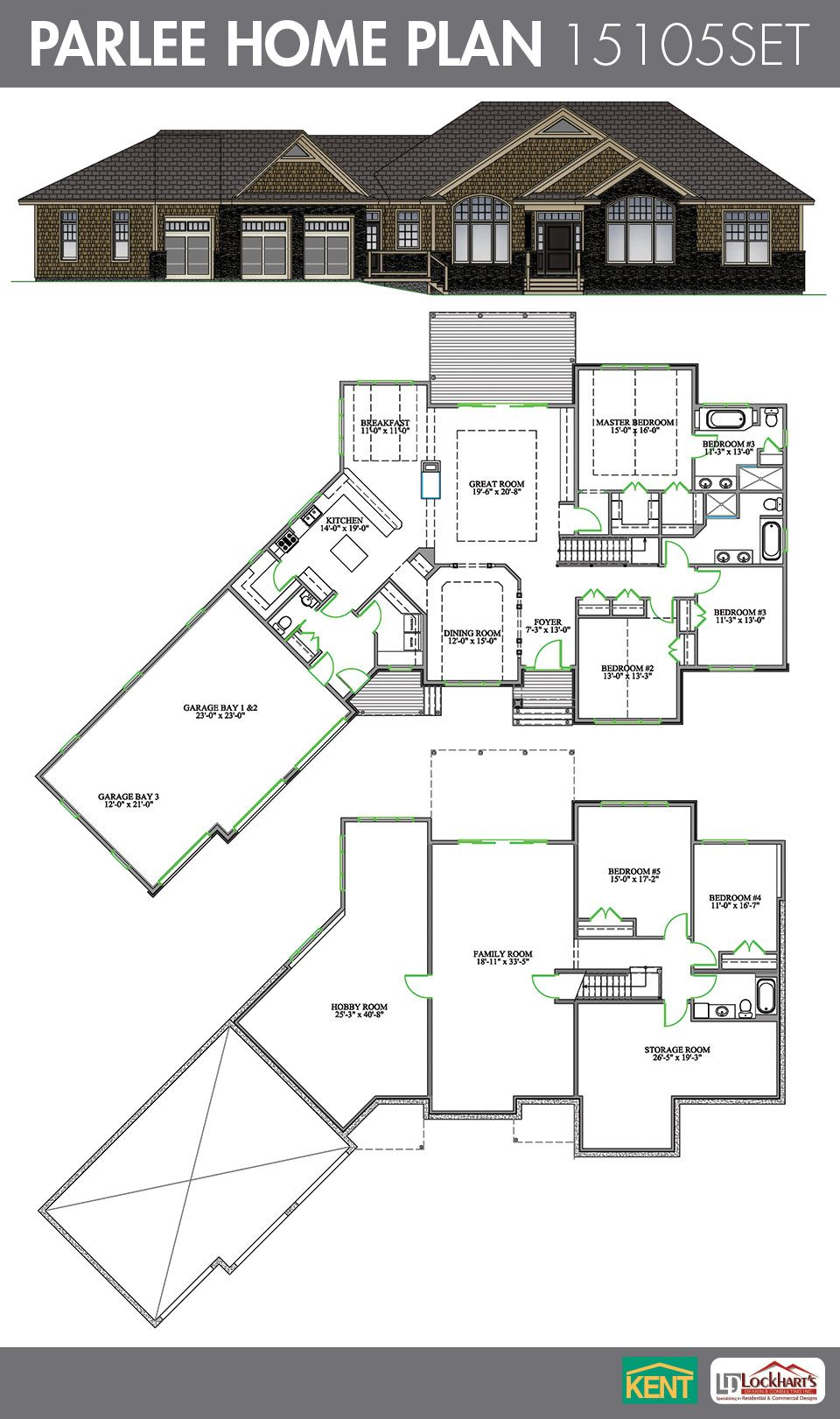 Parlee Home Plan House Plans Simple Ranch House Plans Ranch House Plans