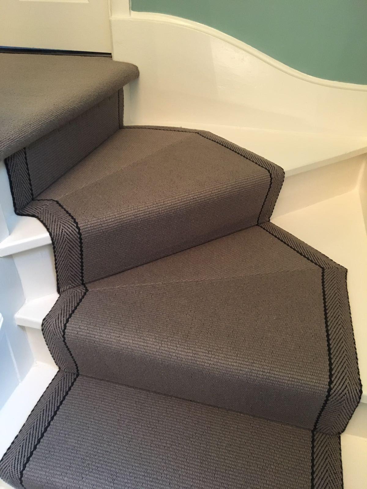 Best Roger Oates Hanover Elephant Grey Herringbone Stair Carpet 400 x 300