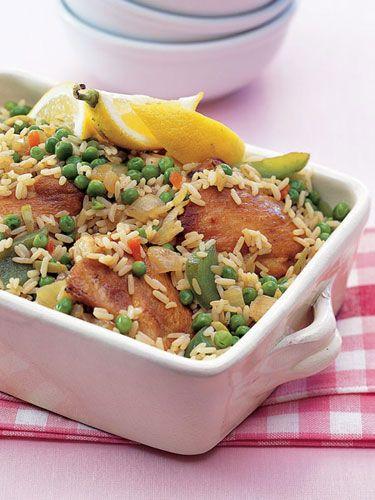 Get the recipe for Arroz Con Pollo.