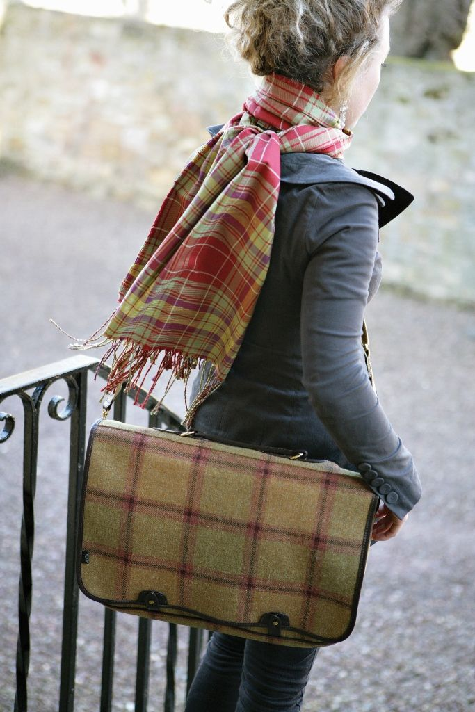 ANTA Tweed Satchel and Silk Scarf. To see more of ANTA's fashion classics, visit – http://anta.co.uk/made-in-scotland/fashion-classics #tweed #satchel #anta
