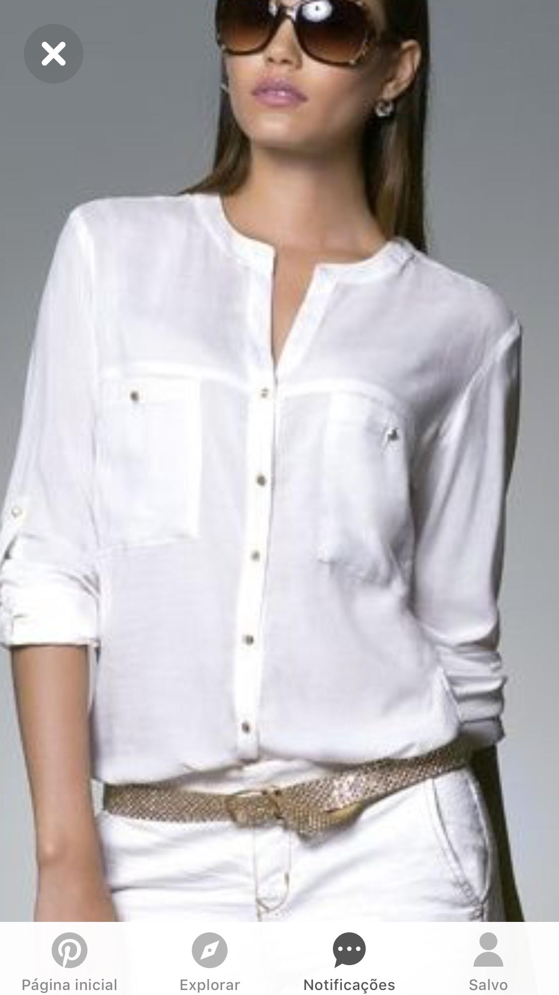 Camisa feminina branca png 3 » PNG Image