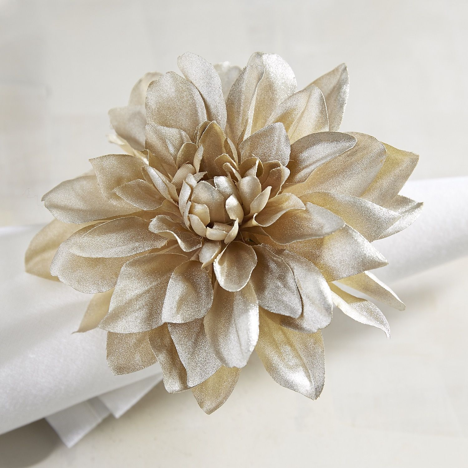 Champagne Dahlia Flower Napkin Ring Products Pinterest Napkin