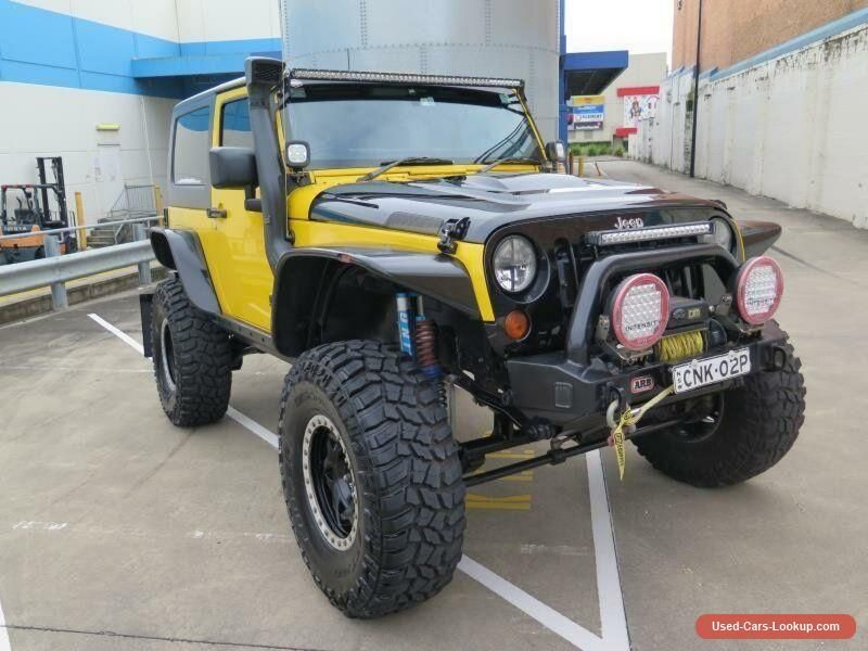 Car For Sale 2008 Jeep Wrangler Jk My2008 Sport Yellow Automatic