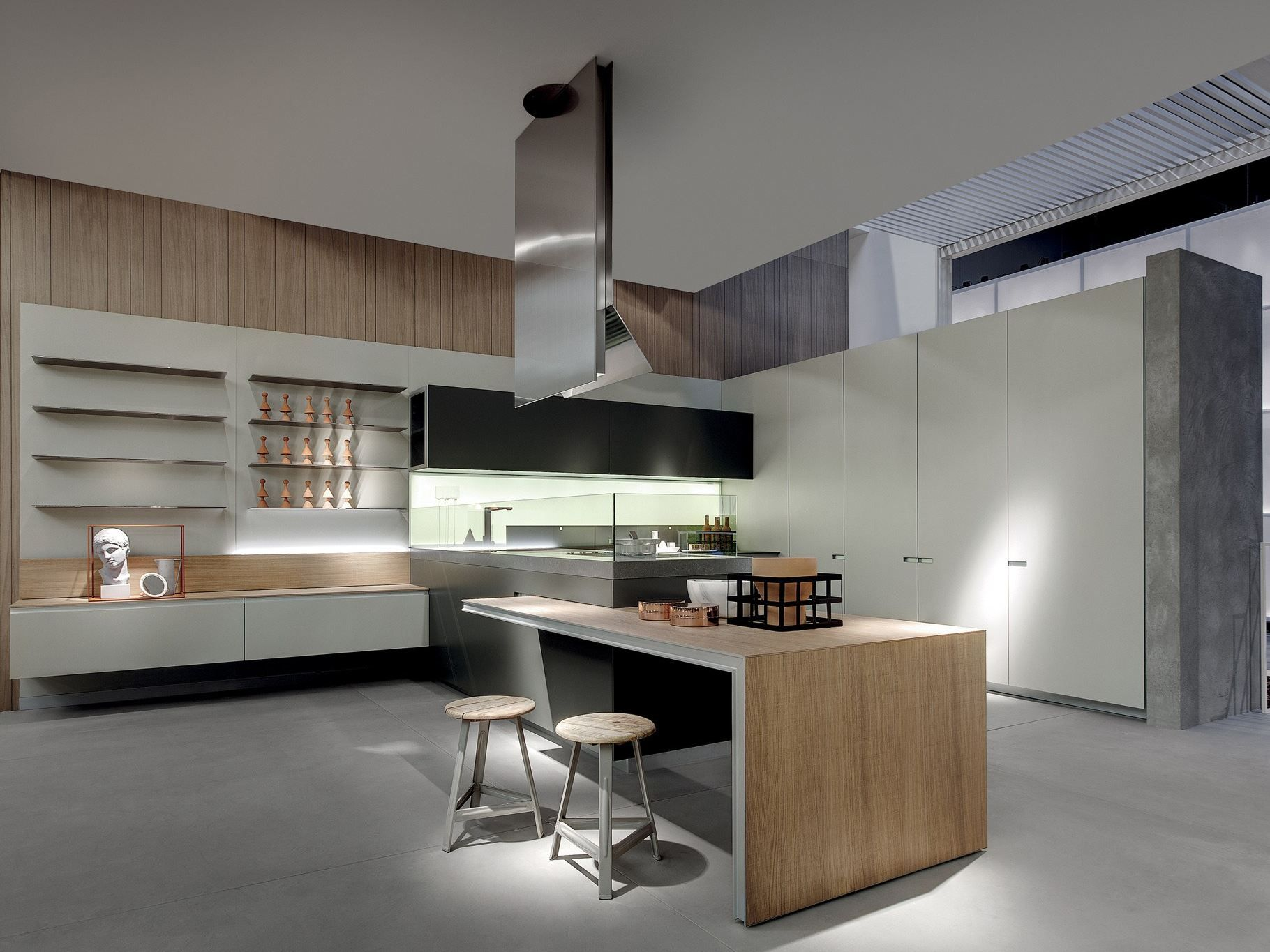 Cucina senza maniglie ICON by ERNESTOMEDA design Giuseppe Bavuso ...