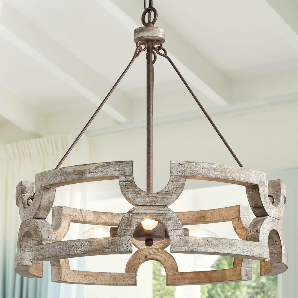Wooden Chandeliers For Dining Room