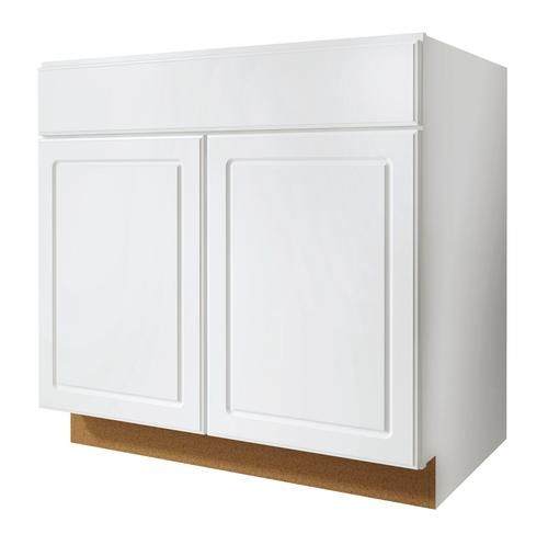 """Lowe S Kitchen Base Cabinets: Value Choice 33"""" Ontario White Standard 2-Door Sink Base"""