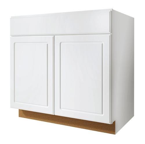 Best Value Choice 33 Ontario White Standard 2 Door Sink Base 400 x 300