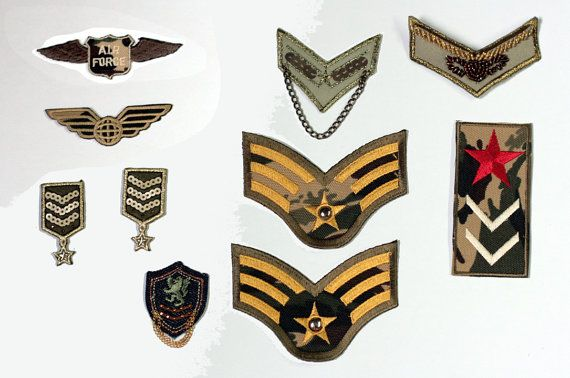 NEW Vintage Steampunk Army Patches Military Airship Captain Aviator Royal Air Force Assorted Pack of 10