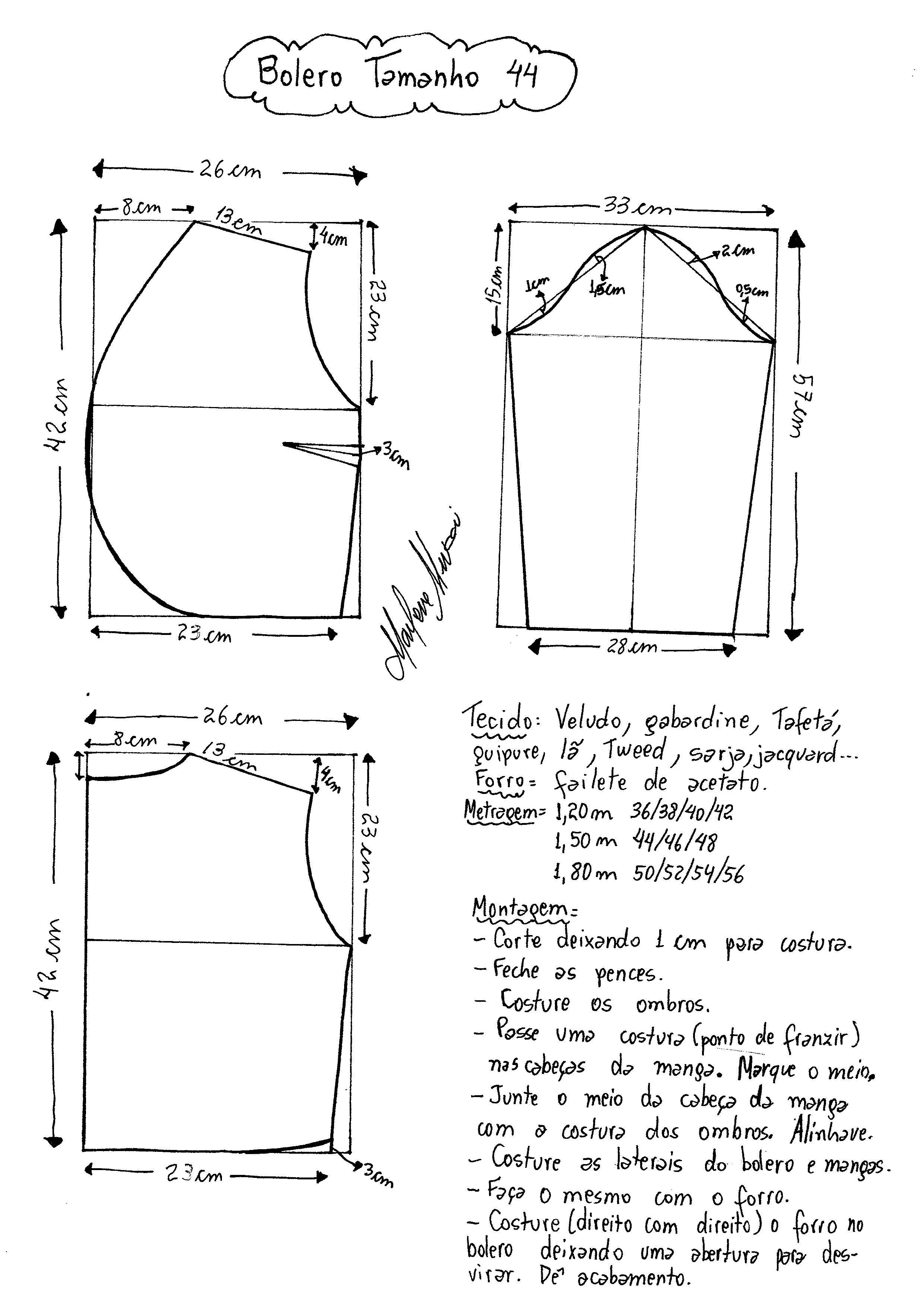 Como hacer un bolero para dama | costura diversa | Costura, Patrones ...