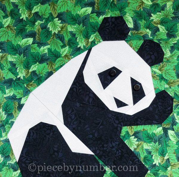 Panda paper pieced quilt block | Paper Piecing | Pinterest