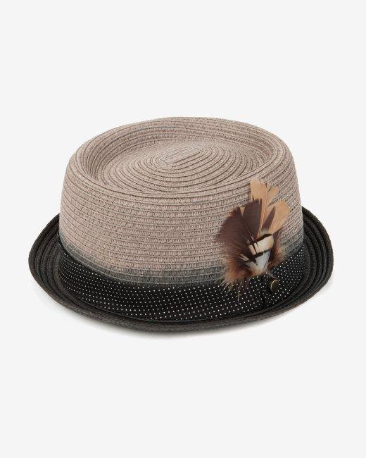 Printed trim hat - Grey  dcd0f45e0a4