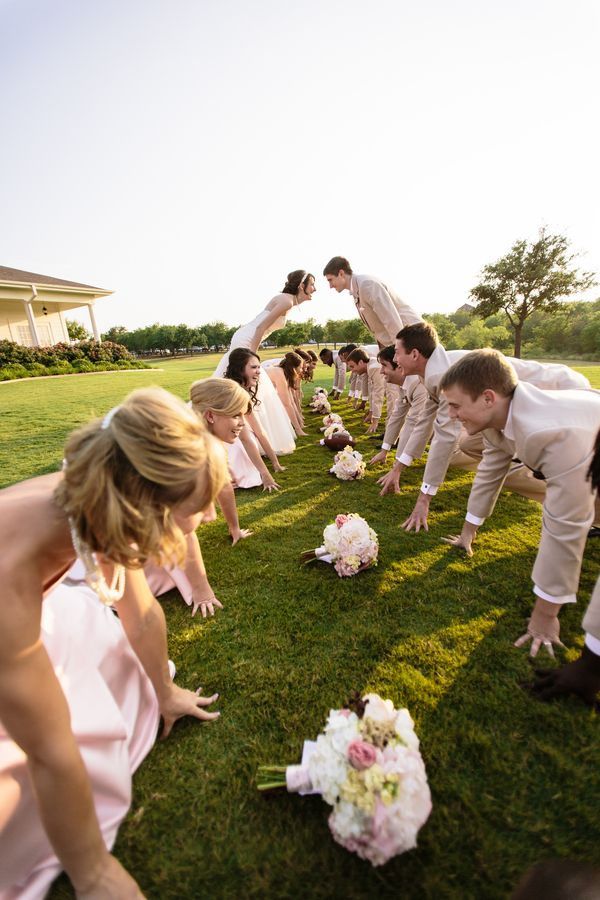 Pink Football Themed Wedding