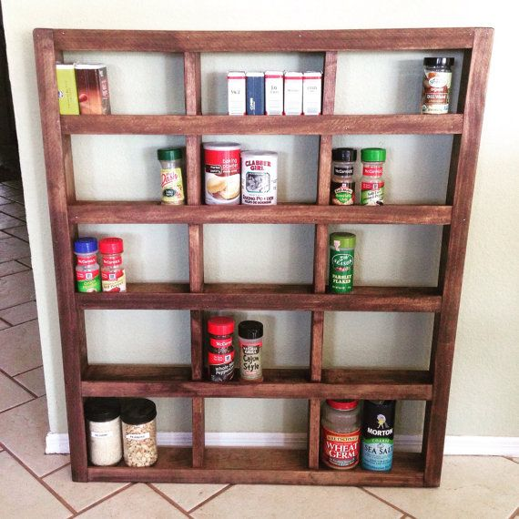 Woodworking Plans For Kitchen Spice Rack: Rustic Wooden Spice Rack