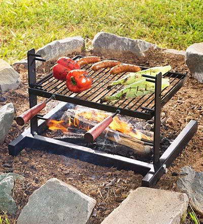 This Photo Doesn T Show It But This Actually Fits Perfectly Into A Fireplace I Love It Now For A Firep Outdoor Cooking Fireplace Cooking Fire Pit Accessories