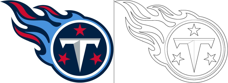 Titans Logo Coloring Page In 2020 Titan Logo Tennessee Titans