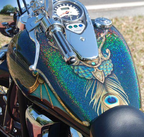 Royal Peacock tank | Bikes | Motorcycle paint jobs, Custom