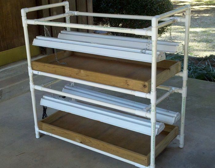 Diy Pvc Grow Light Stand Grow Light Stand Grow Lights For