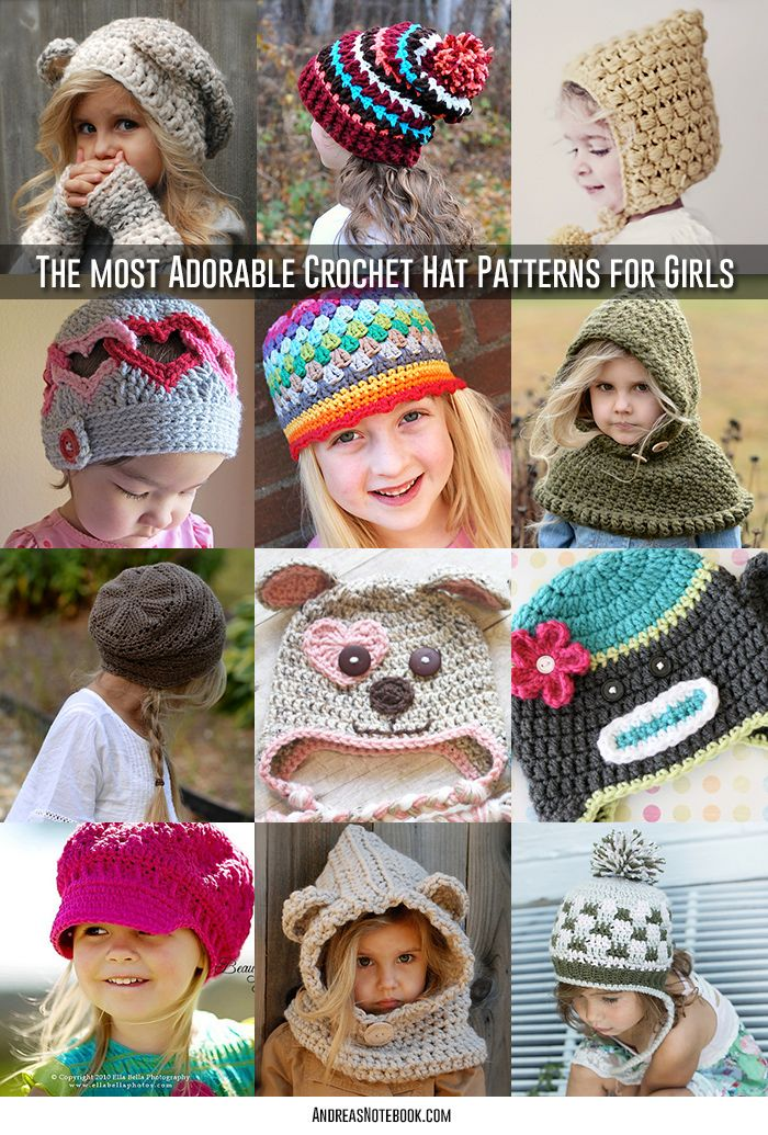 TONS of amazing crochet hat patterns for girls!   Crochet Crazed ...