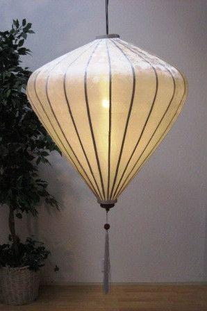 Silk and Bamboo Chinese Lantern 6' -- White Diamond