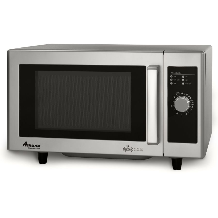 Amana Rms10ds Stainless Steel Commercial Microwave With Dial