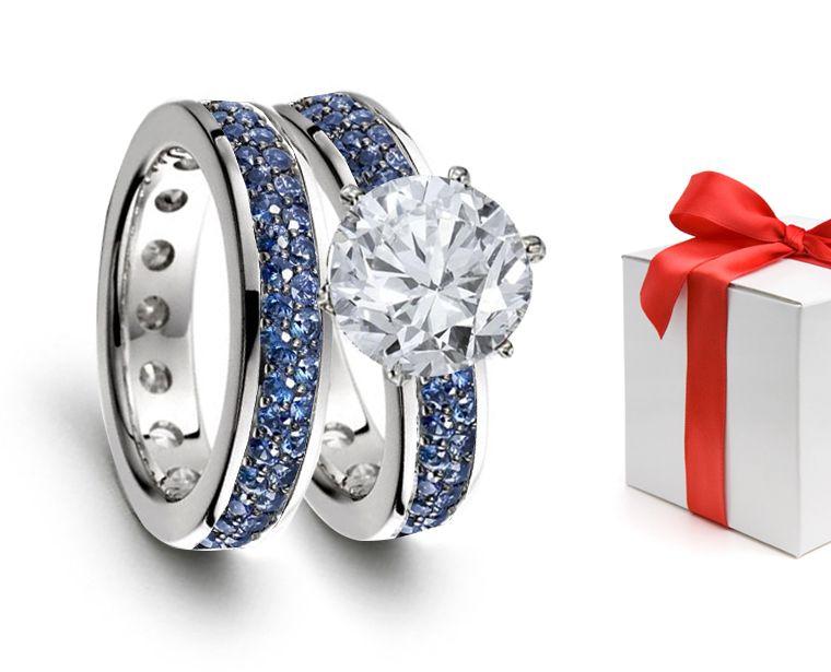 Premier Designer Jewelry Collection - Ruby Emerald Sapphire Eternity ...