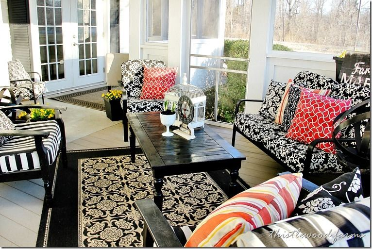 Pin by Amber on Porches & Sunrooms | Spring living room ... on Amber Outdoor Living id=42395