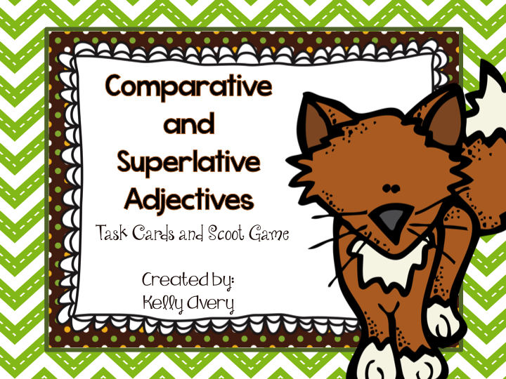 This download is a great way to practice the skill of comparative and superlative adjectives. This download includes the recording sheets for the Scoot game. It also includes other suggestions for using these task cards.