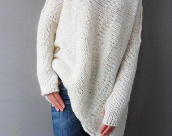902f3fca3 Oversized   Slouchy   Bulky knit sweater. Alpaca Wool by LeRosse ...
