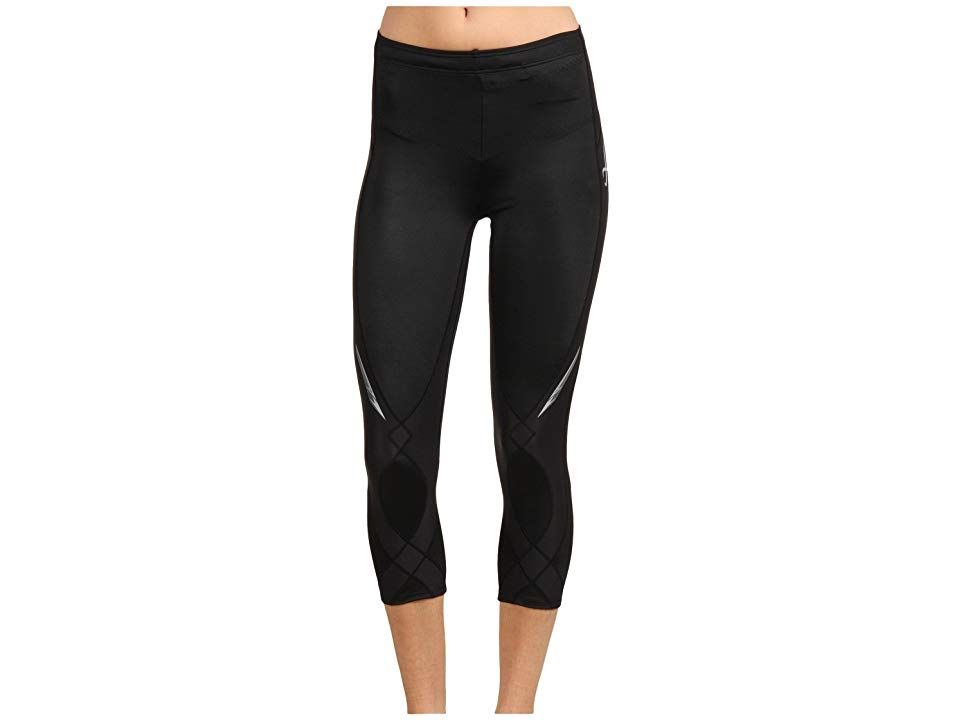 CWX Stabilyxtm 34 Tight Black Womens Workout Stabilize yourself throughout your next run in this supportive CWX tight Coolmax fabric moves perspiration away from the body...
