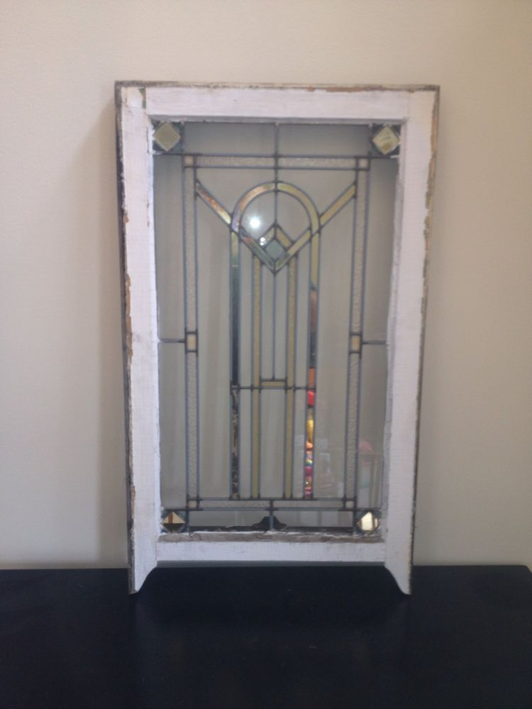 Antique Leaded Stained Glass Window from Chicago Bungalow - Ultrasonic Solar Pest Repellent. Best Outdoor Electronic Repeller