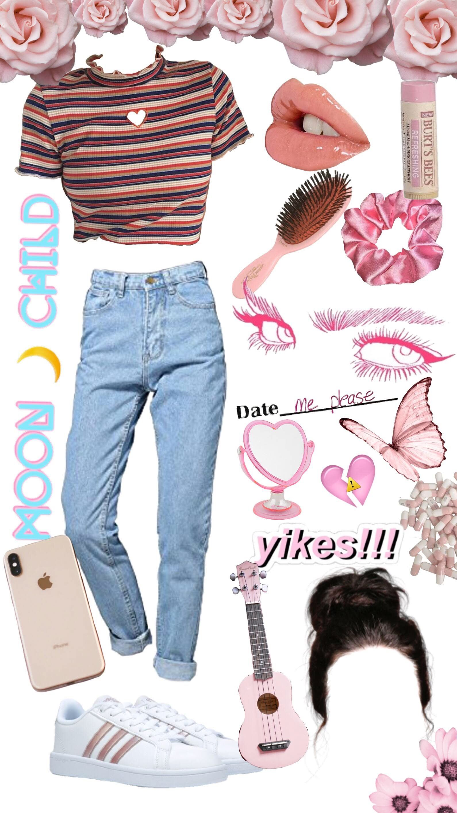 softgirl pink blue moonchild outfits aesthetic