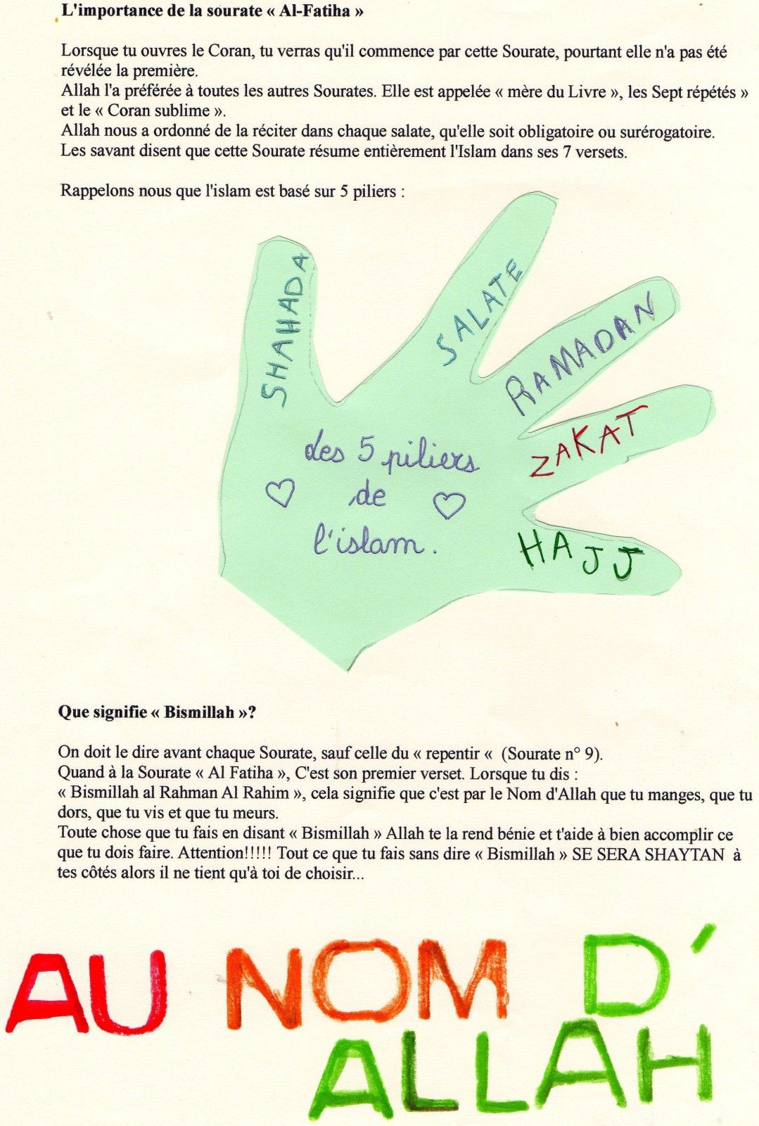 Les 5 Piliers De L'islam : piliers, l'islam, Piliers, L'Islam;, L'importance, Fatiha, Coran,, Islam,, Ramadan
