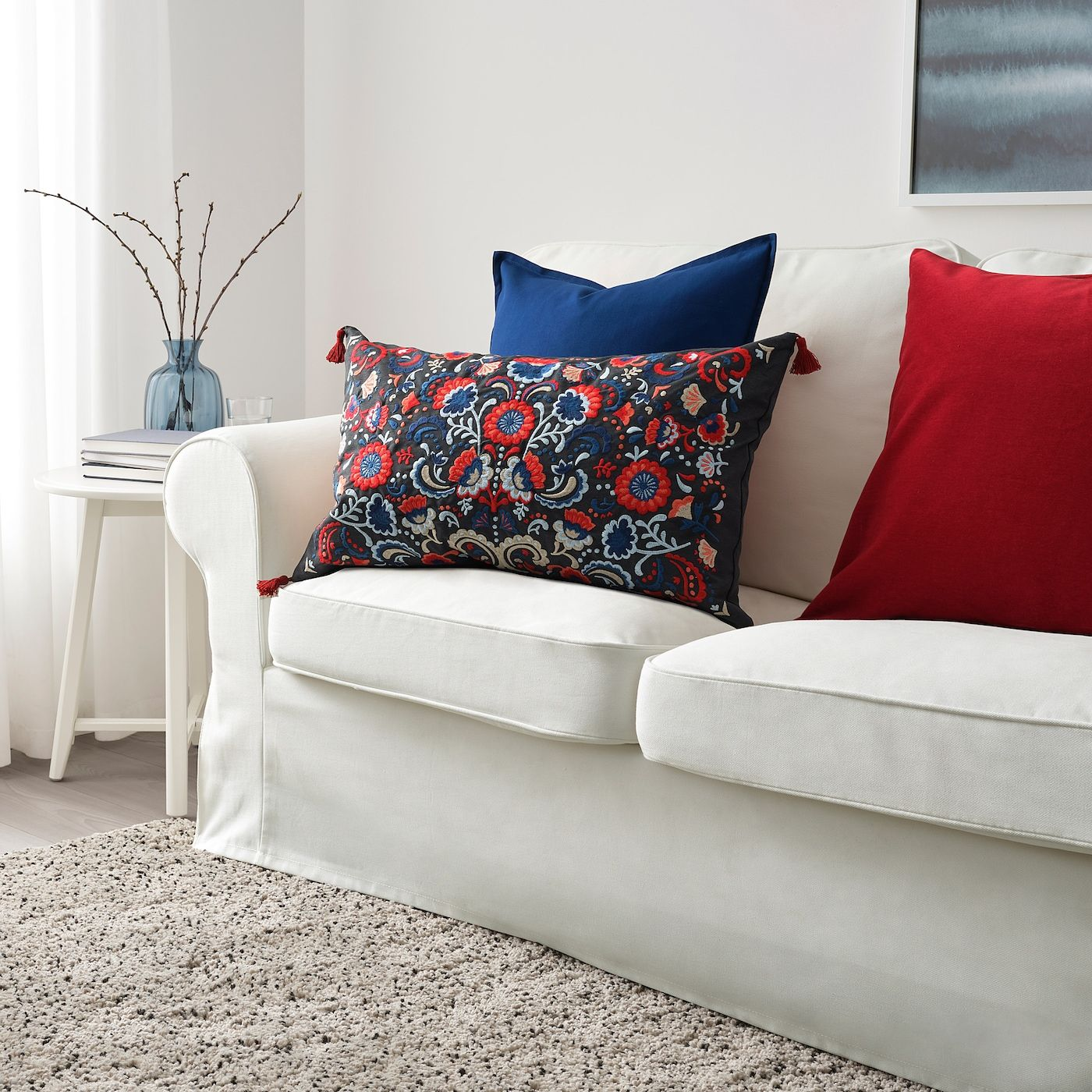 Skogskorn Pude Morkegra Multifarvet Ikea Cushions On Sofa Cushions Ikea Pillows