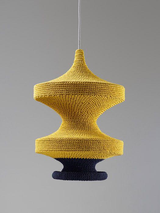Pin by Kathryn Garrison on lighting | Crochet lamp