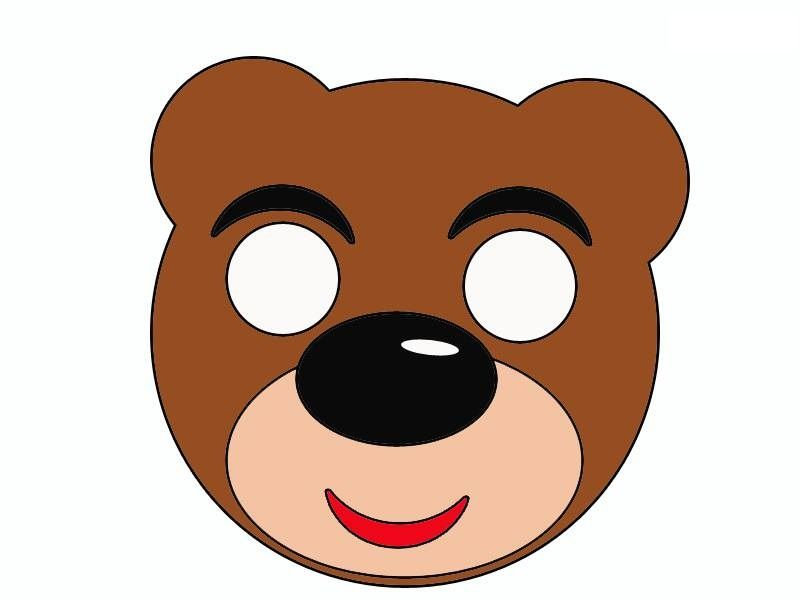 Bear mask template mask craft and templates pinterest mask bear mask template pronofoot35fo Gallery