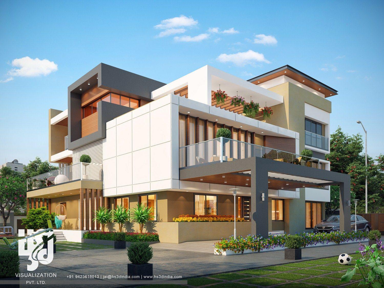 Best Modern Home Design Ideas 3d Exterior Rendering Design