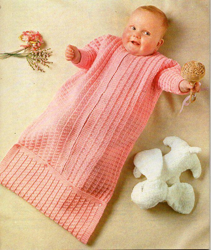 94af49df3 vintage baby sleeping bag knitting pattern pdf download baby cocoon ...